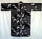 Yukata with blue & white koi fish pattern